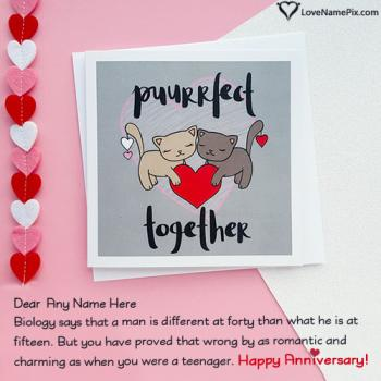 Romantic Anniversary Cards For Husband With Name