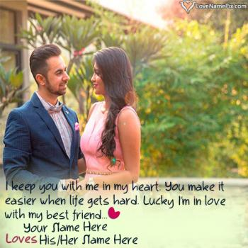 Romantic Couple Name Editing Love Image