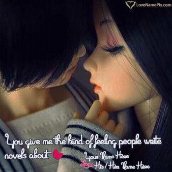 Write name on Romantic Cute Love Quotes love images