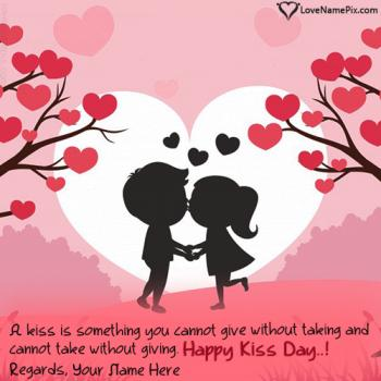 Romantic Happy Kiss Day Images With Name