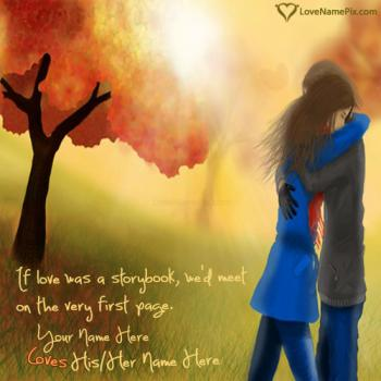 Write name on Romantic Love Quotes For Him love images