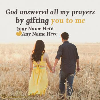 Write name on Romantic Lovers Quotes For Couple love images