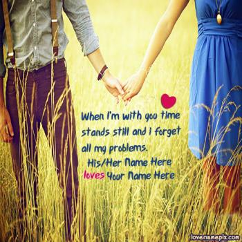 Write name on Romantic Quotes For Her love images