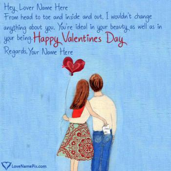 Romantic Valentine Day Wishes For Lover Name Picture
