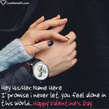 Write name on Romantic Valentines Day Greetings Messages love images