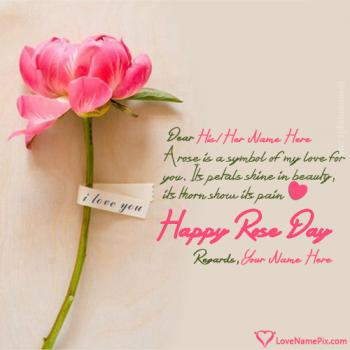 Rose Day Greetings Quotes With Name