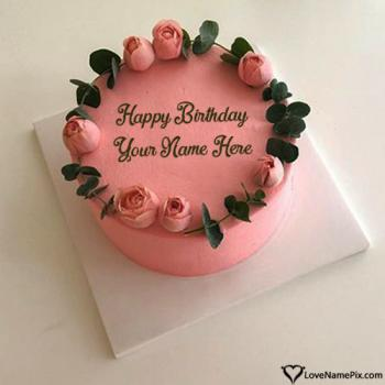 Roses Happy Birthday Cake Free Download With Name