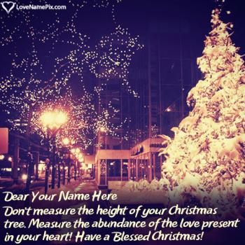 Short Christmas Wishes Messages With Name