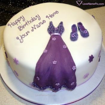Cute Stylish Birthday Cake Editing Online With Name