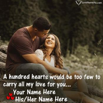 Stylish Name Combiner For Couples With Name