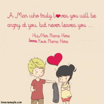 Write name on Sweet Couple Quotes For Her love images