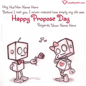 Sweet Propose Day Messages Name Picture