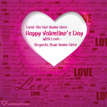 Write name on Valentine Day Love Quotes Messages love images