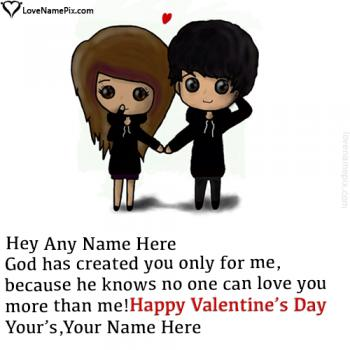 Write name on Valentine Messages For Girlfriend love images