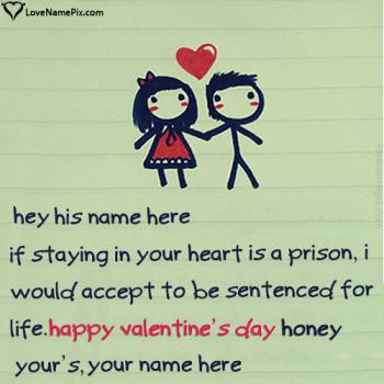 Write name on Valentine Wishes For Boyfriend love images