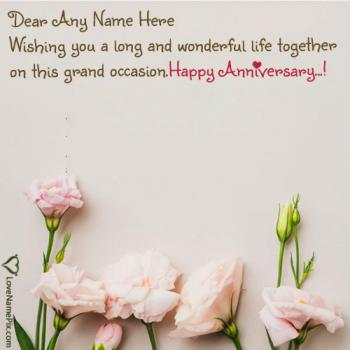 Wedding Anniversary Wishes For Friend Images With Name