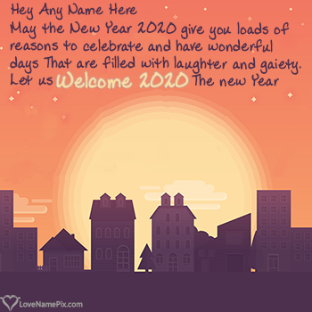 Welcome 2020 Wishes Message With Name