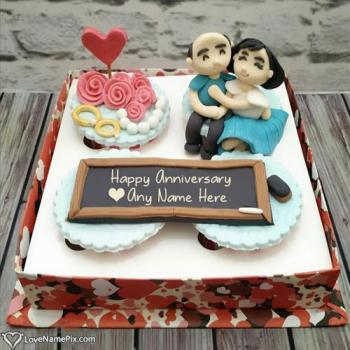 Write Name To Create Wedding Anniversary Cake With Name