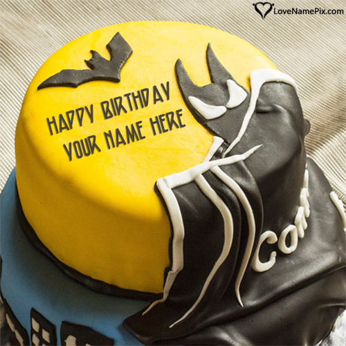 Create Batman Best Birthday Cake For Boys With Name Edit