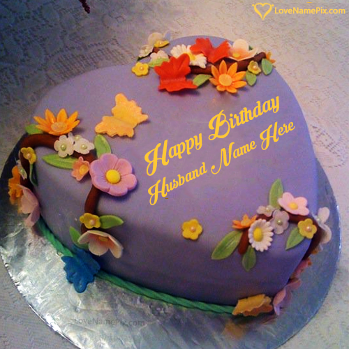 Create Best Birthday Cake For Husband With Name Edit