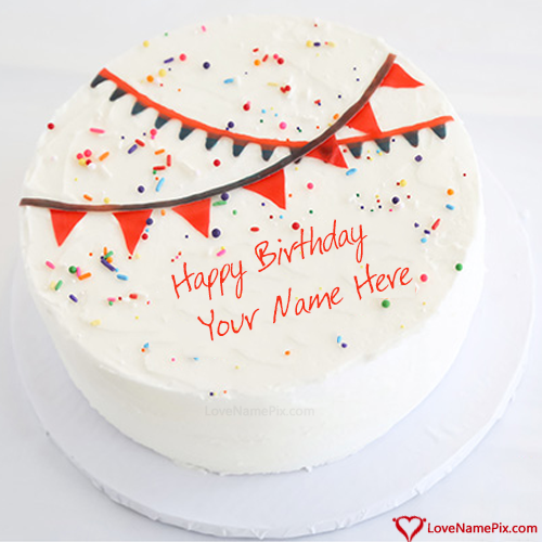 Create Best Idea Of Greetings Birthday With Cake With Name Edit