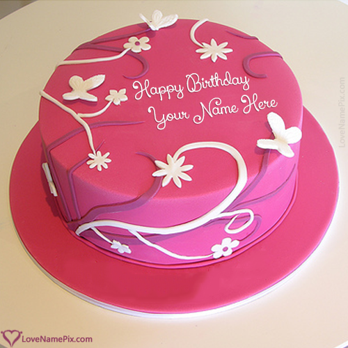 Create Best Wishes Birthday Cake For Girlfriend With Name Edit