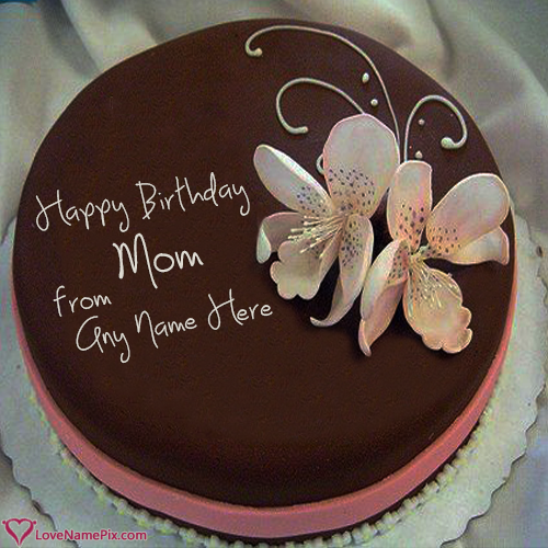 Write Name On Birthday Cake Maker For Mother Online Picture