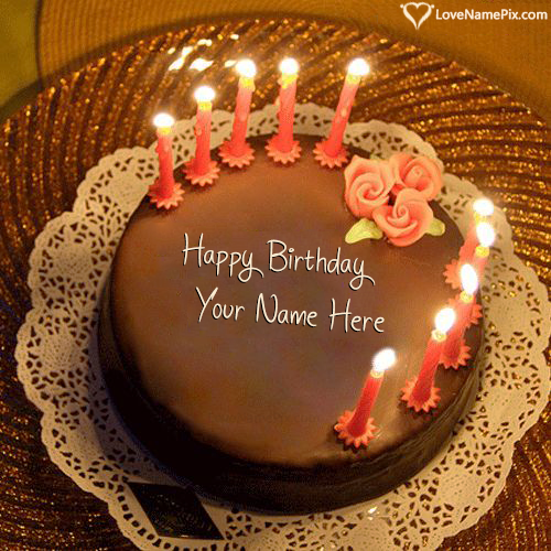 Birthday Cake With Candles Free Download With Name Edit