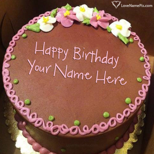 Birthday Cake With Photo Edit Name Generator
