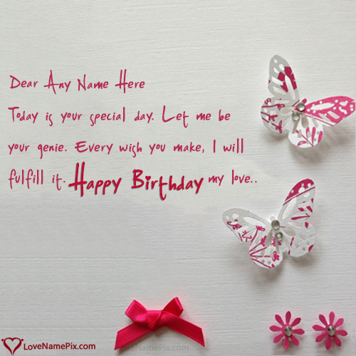 Birthday Wishes Cards For Lover Name Generator – Birthday Greetings to a Lover