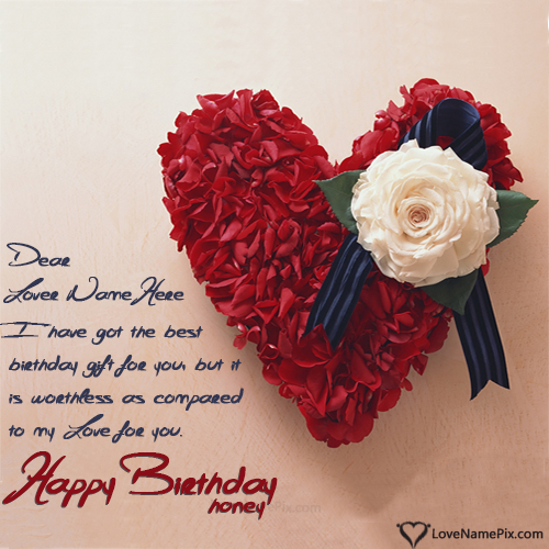 Love Happy Birthday Wishes Cards Sayings: Birthday Wishes Quotes For Lovers With Name