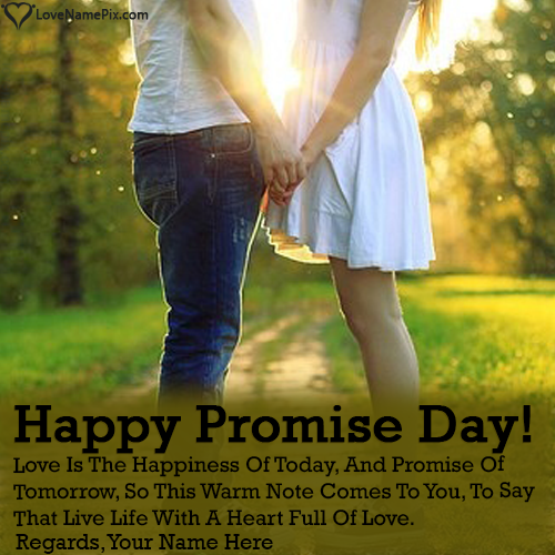 Write name on Couple Holding Hands Promise Day Images love quotes