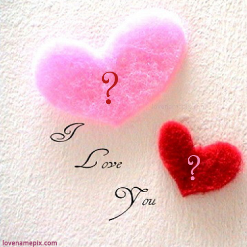 Write name on Cute Alphabets Hearts love quotes
