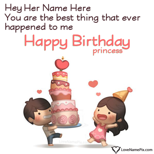 Write Name On Cute Birthday Wishes For Girlfriend Picture