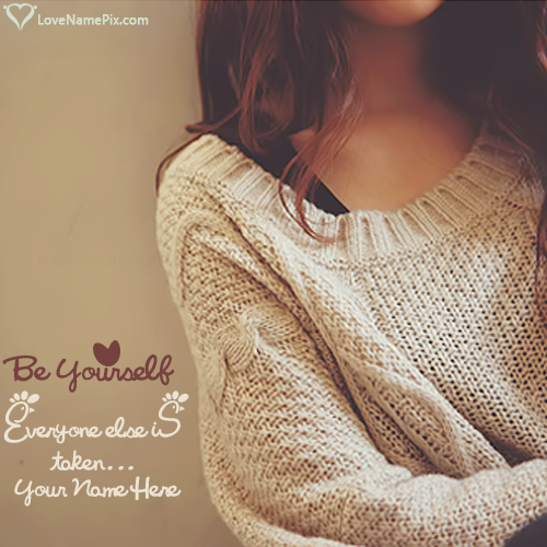 Write Name On Cute Girl Quotes And Sayings Picture