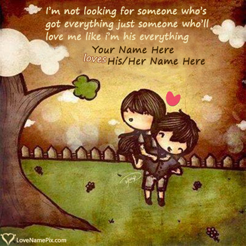 Write name on Cute Images Of Love HD love quotes