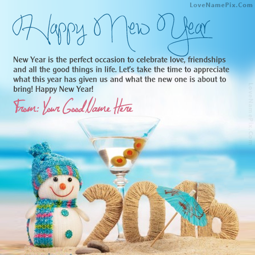 Write name on cute new year greetings picture m4hsunfo