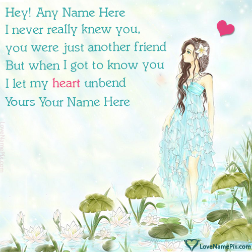 Write name on Cute Poem About Love For Him love quotes