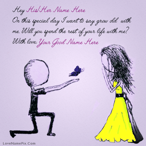 Write Name On Cutest Propose Picture