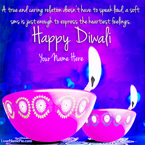 diwali wishes greeting cards with name
