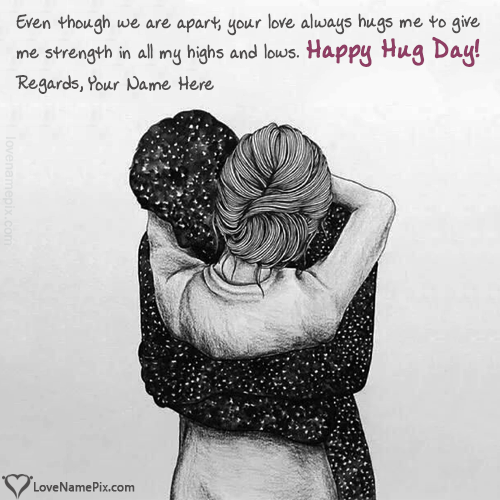 Write name on Editor For Happy Hug Day Images love quotes