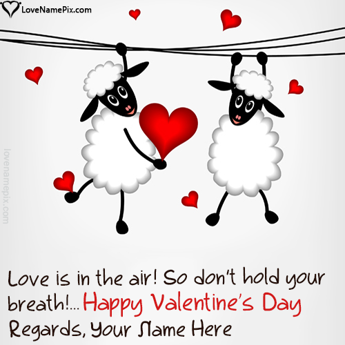 Write Name On Funny Valentines Day Quotes Messages Picture
