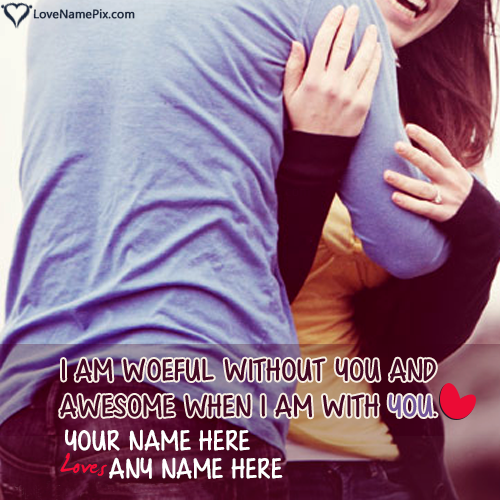 Write name on Generator For Couple Lovers love quotes