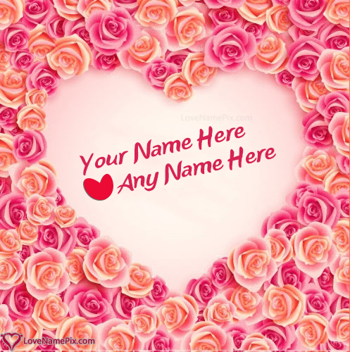 Write name on Generator Of Couple Name In Heart love quotes