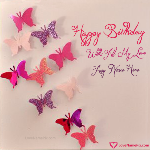 Write Name On Handmade Happy Birthday Cards Picture