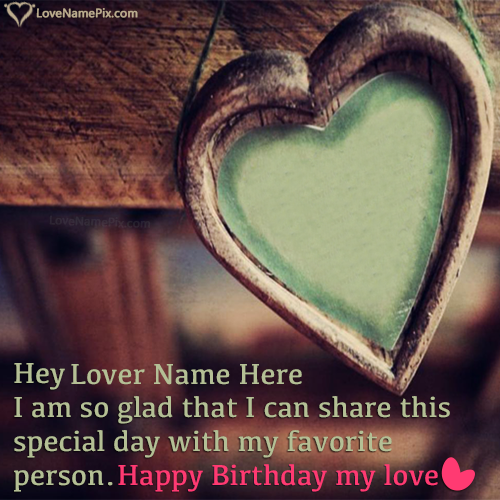 Write Name On Happy Birthday Greetings For Lover Picture