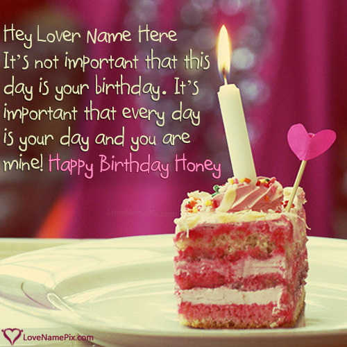 Write Name On Happy Birthday Lover Quotes Images Picture