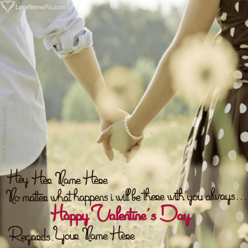 Write Name On Happy Valentines Messages For Her Picture