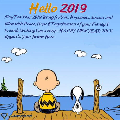 Write Name on Hello 2018 Best Quotes Picture