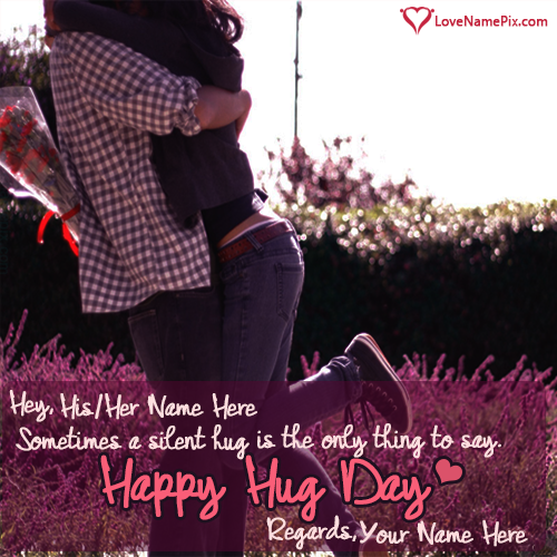 Happy hug day quotes name wishes m4hsunfo